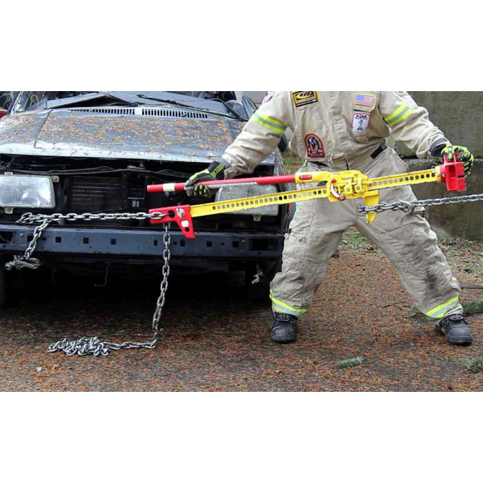 Use with chains for extrication