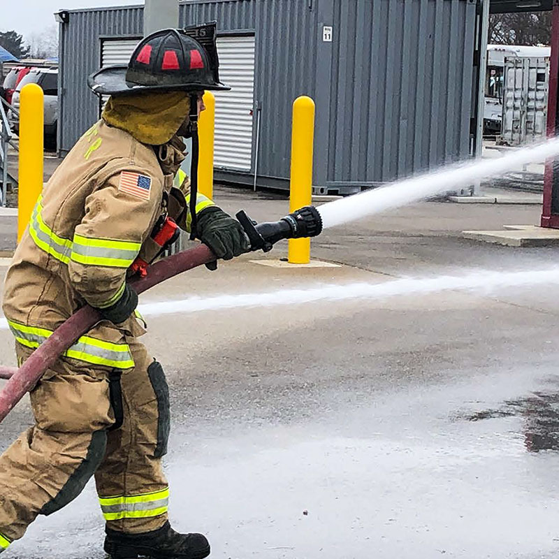 "Working Fire 38mm (1.5"")  Fixed GPM Nozzle with Pressure Relief"