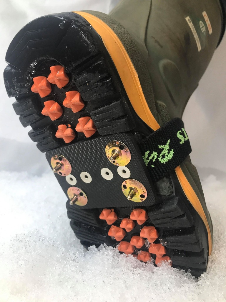 Rubber Strap Ice Cleats w/ 4 blunts