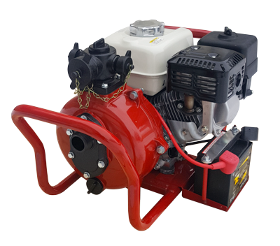 Fire Pump 6hp High Pressure - Electric & Manual Start - Twin Outlets - CET