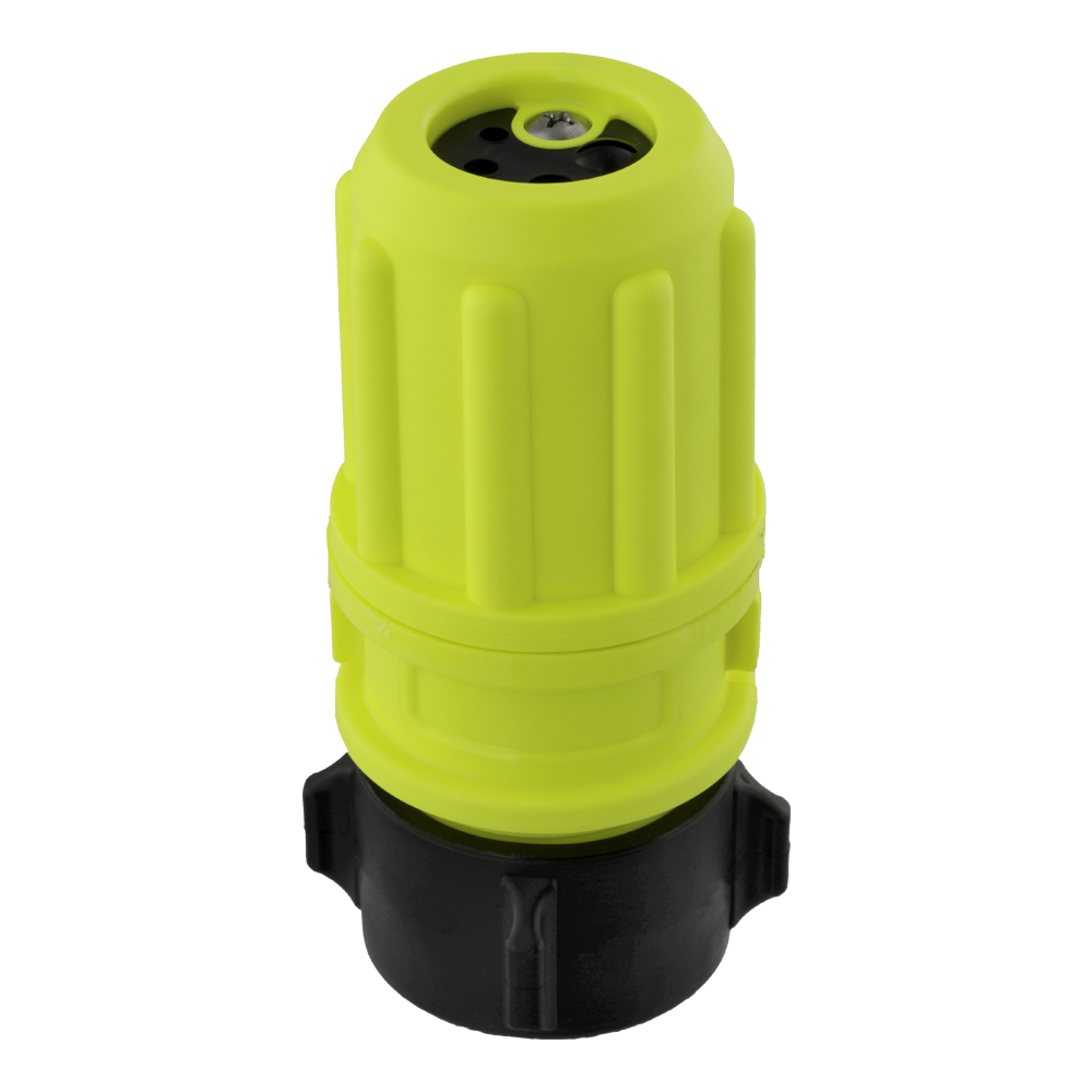 "Scotty Revolver Multi-flow Nozzle 3-6-9-12 gpm - 38mm (1.5"") NPSH - Yellow"