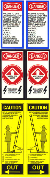 Fire Ladder Label - Pair