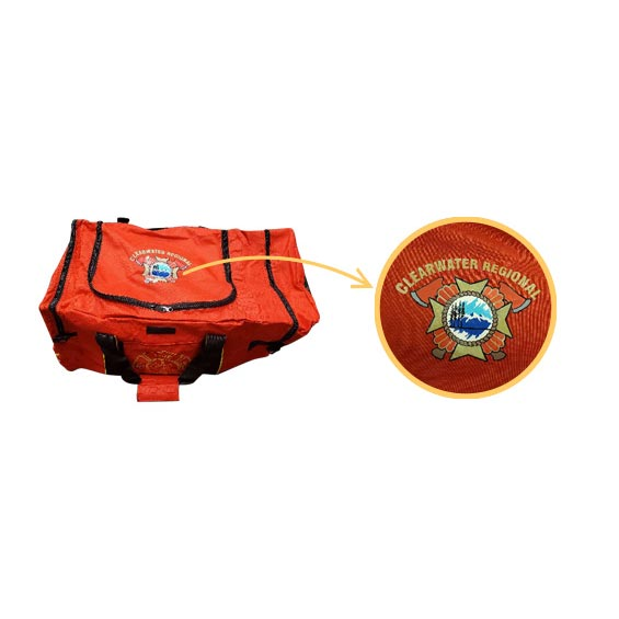 "Frontier Firefighter Gear Bag - Custom Logo (6"" x 8"") only"