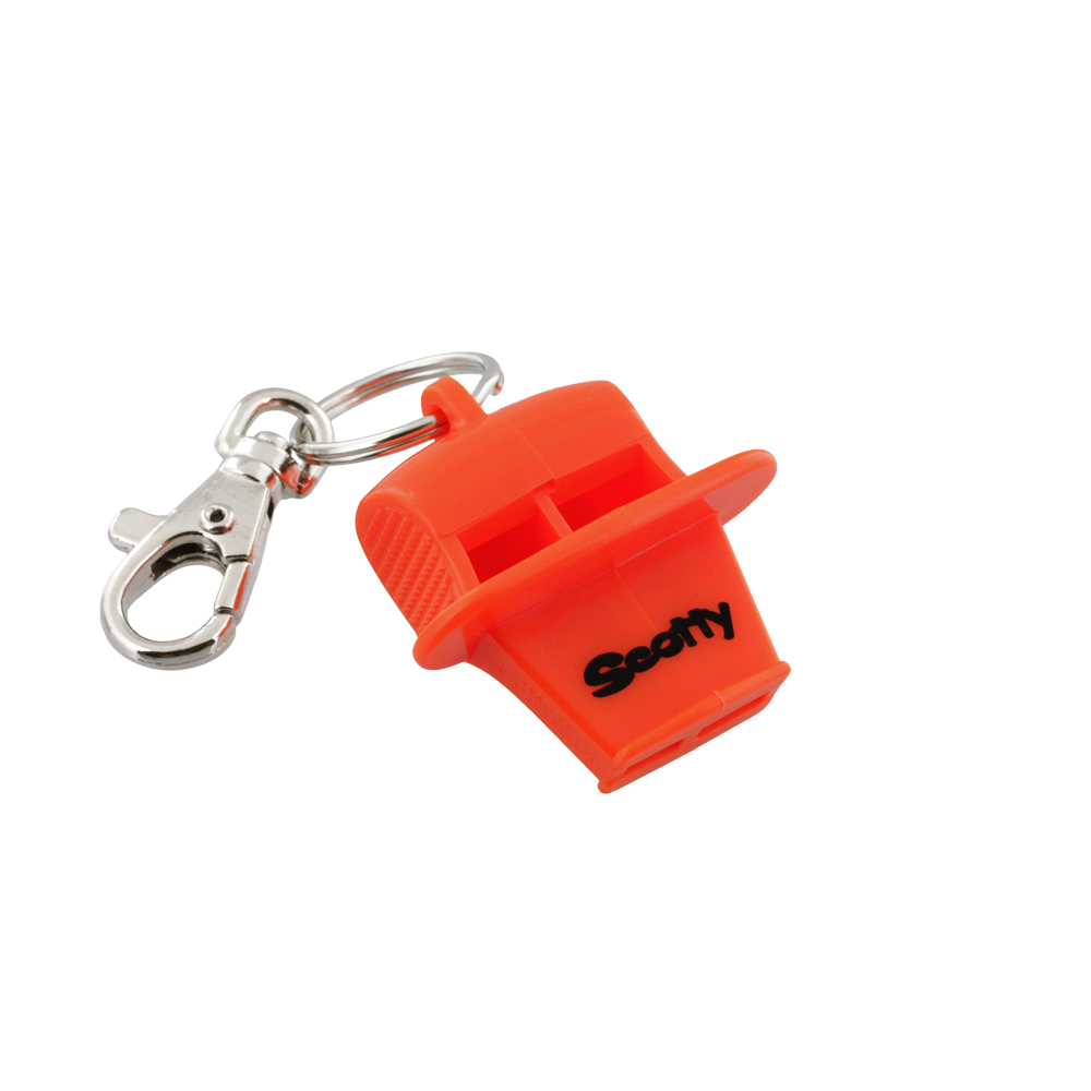 Scotty #1 Lifesaver Whistle w/ metal snap