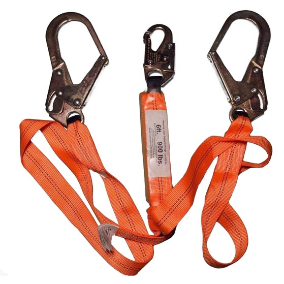 Double Leg Shock Absorbing Lanyard - 6 foot