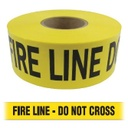 Barricade Tape - FIRE LINE - DO NOT CROSS - Yellow
