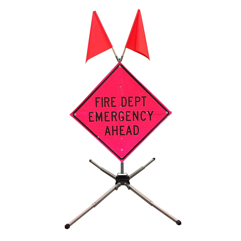 Fold & Roll Traffic Sign System - 36""