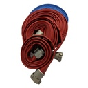 "[590001890] Rubber Industrial Fire Hose 250psi Test - Frontier (38mm (1.5"") NPSH x 50ft Red)"