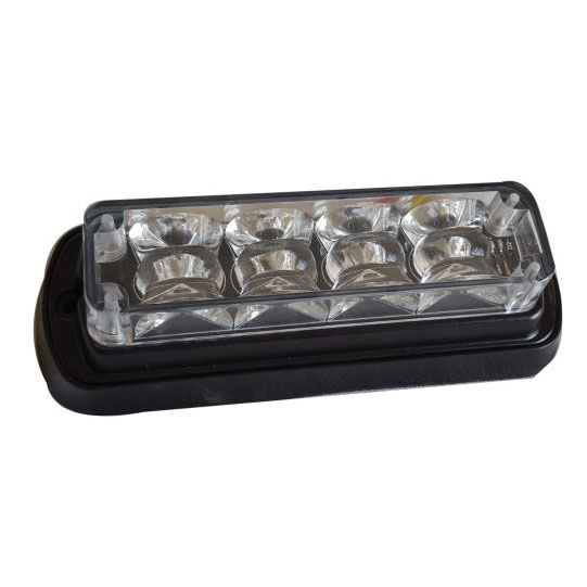 Frontier LED Warning Light Clear lens, red LED