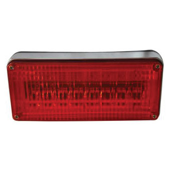 Frontier LED Warning Light red lens, clear LED