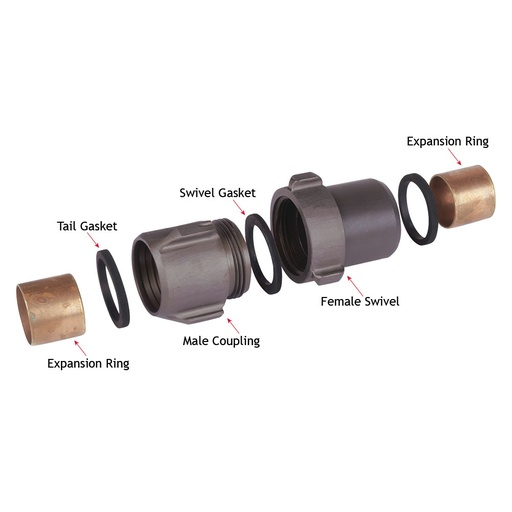 "Fire Hose Couplings 38mm (1.5"")"