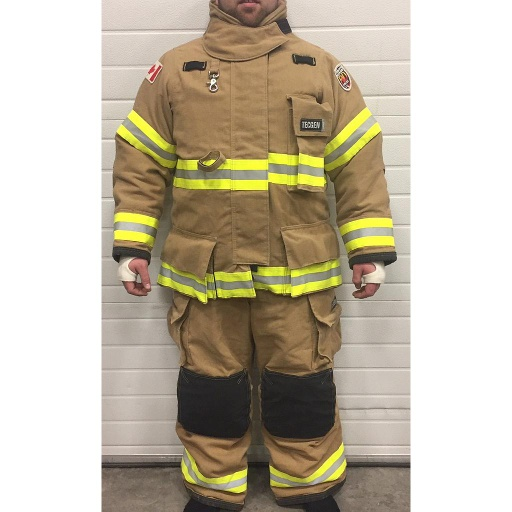 [710000960] TecGen 71 FXR Bunker Gear, Gold *Sale* Coat 46 Pants 42x30