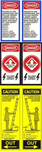 [P-6808] Fire Ladder Label - Pair