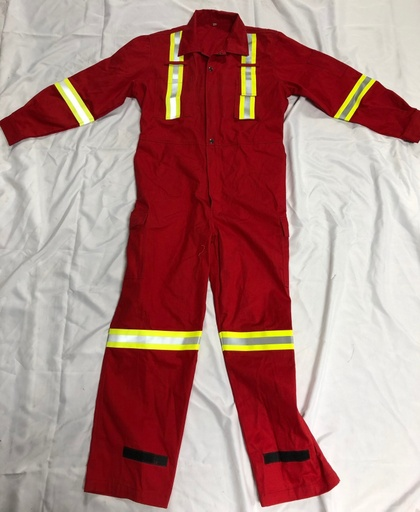 [P-7058] Demo FR 9oz. Coverall - Red - 34S - *Sale*