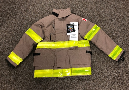 "[P-7146] Fire-Dex FXR Khaki Armor AP - Coat only - 42"" chest *Sale*"