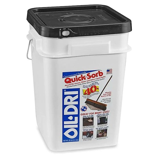 [P-7248] Oil-Dri Quick Sorb Absorbent - 20 lb pail (min order of 3)