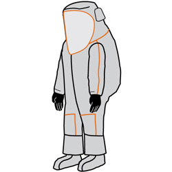 Kappler Frontline 500 Fully Encapsulating (Vapour) Suit - Rear Entry