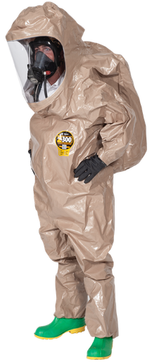 [P-7277] Kappler Zytron 300 Fully Encapsulating (Splash) Suit - Rear Entry