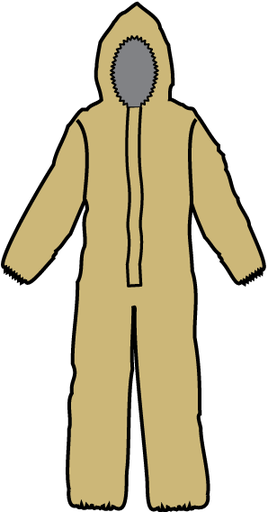 [P-7281] Hazmat Suit Level B Coverall - Kappler Zytron 300