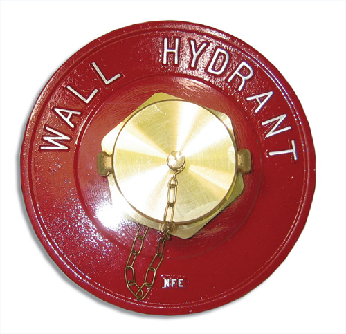 "[P-7738] Wall Hydrant - Single Outlet - 65mm (2.5"") BAT"